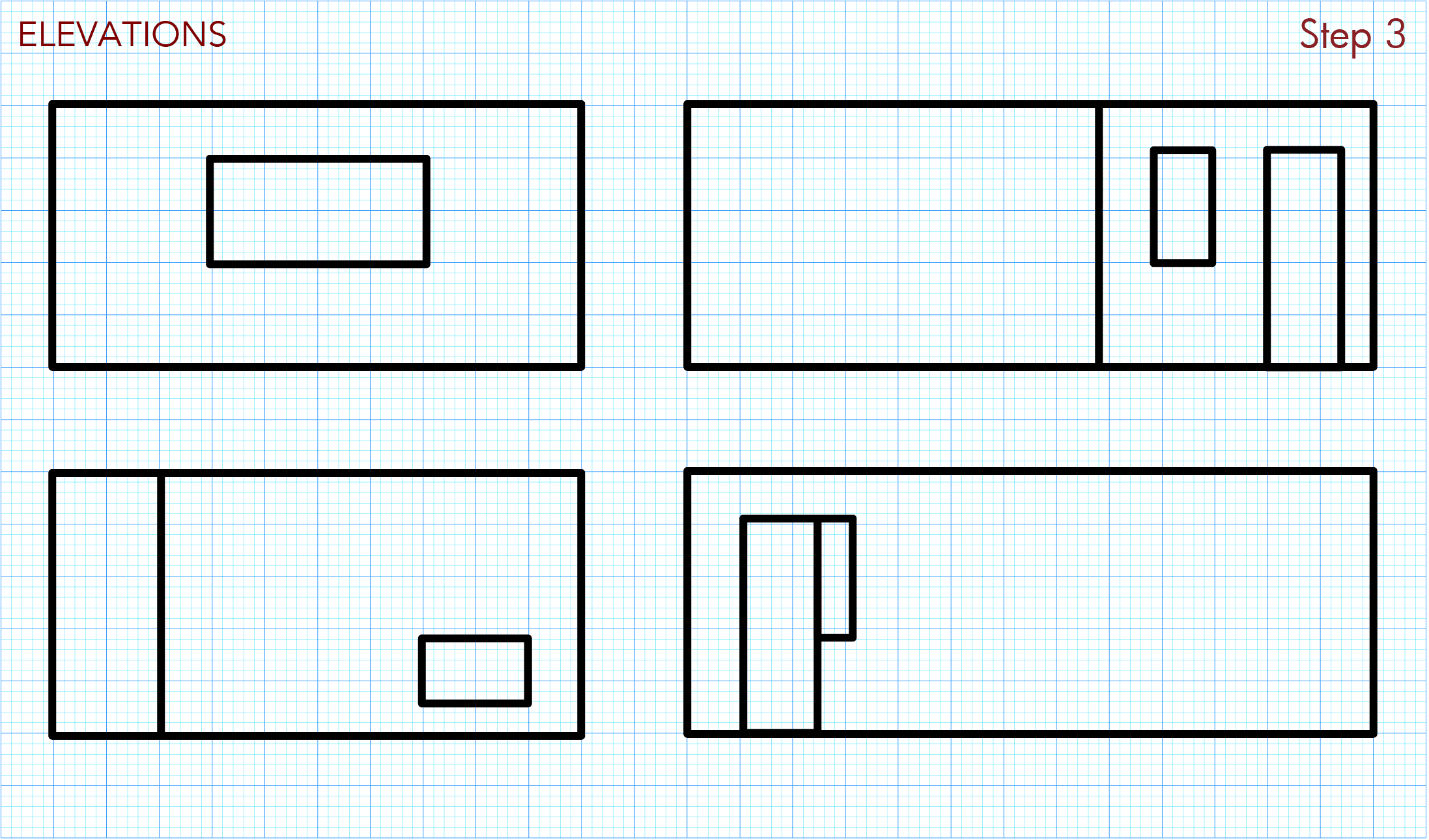 Draw rough room elevations