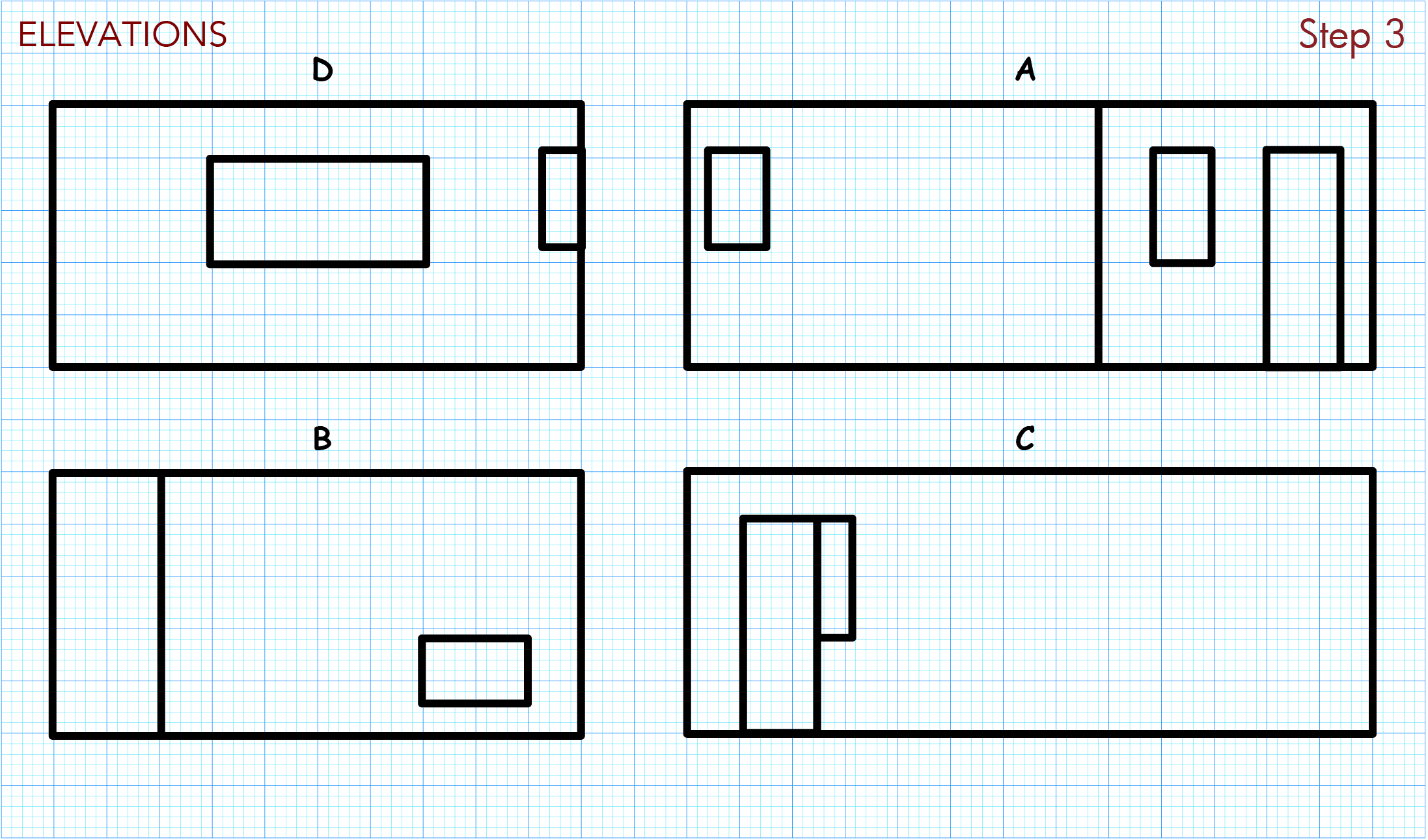 Label each wall to match layout