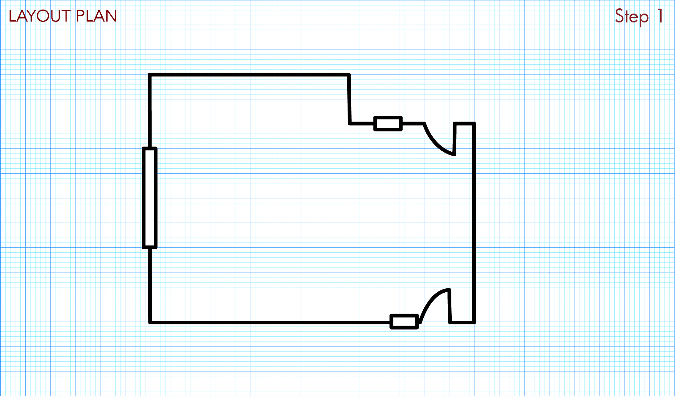 Draw rough room layout