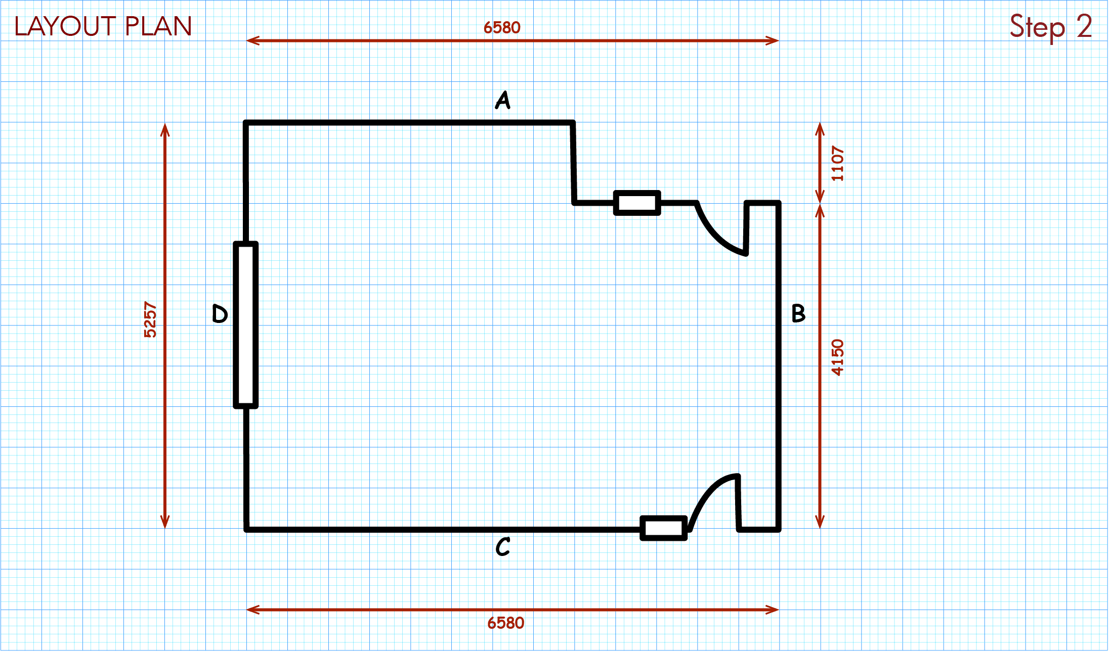 Add room measurements