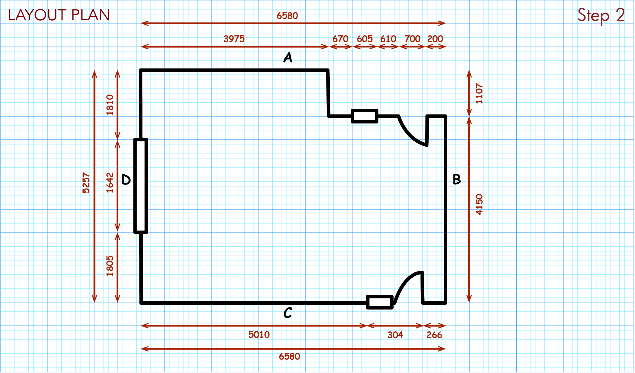 Add more detailed room measurements